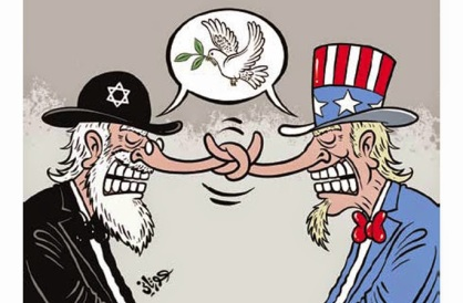 Image result for caricature israel and u.s.