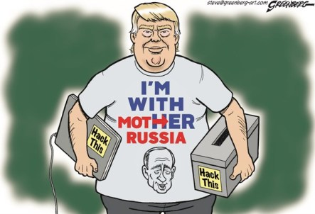 Image result for caricature trump and russia